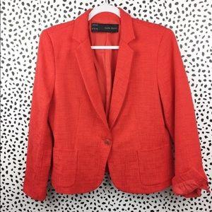 Zara Basic Textured Red Jacket Size XL